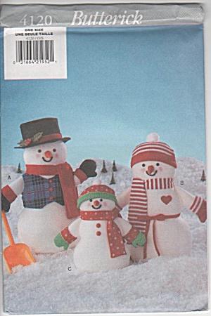 SNOWMAN FAMILY~BUTTERICK 4120~UNCUT (Image1)