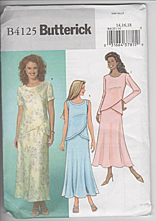 Butterick - B 4125 - Formal Top - Skirt - Sz 14-18