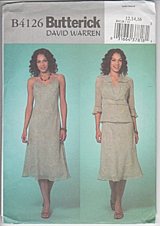 Butterick - 4126 - Sz 12-14-16 - Jacket And Dress