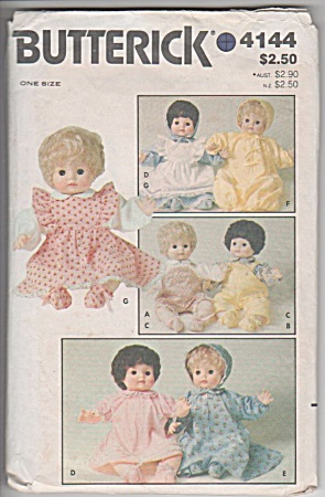 Vintage - Butterick - Baby Doll Clothes - 4144 - 16in
