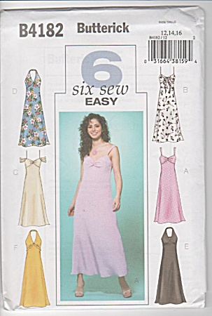 Butterick - 6 So Easy - Dresses - Sz 12-16 - Oop - Unct