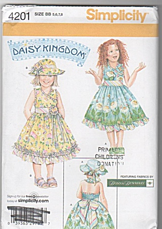Daisy Kingdom Pattern-girls Sundress-4201bb