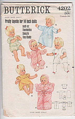 Vintage - Doll Layette - 14in - Tiny Chatty Etc