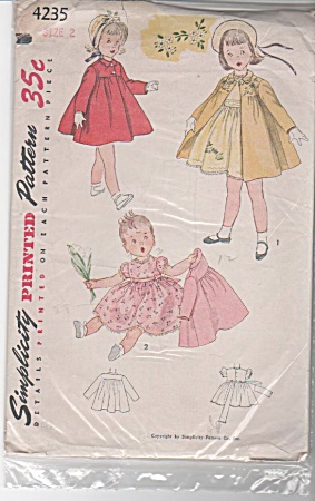 1953 Vintage Pattern Swing Coat & Fluffy Dres