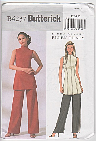Butterick - 4237 - Misses - Tunic - Pants - Sz12-16