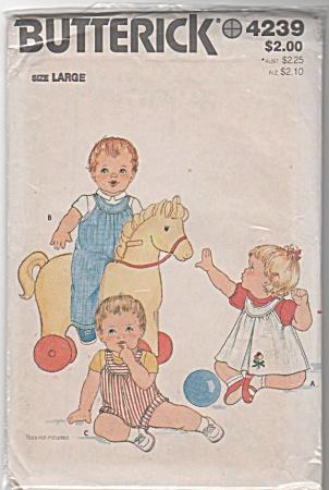 VINTAGE~BUTTERICK~JUMPER~JUMPSUIT~BABY (Image1)