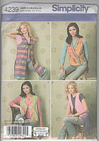 Four Vests - Shirley Botsford - Simplicity - Xs-xl