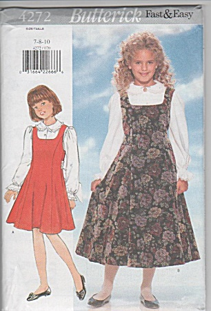 GIRLS JUMPER~BLOUSE~NEW~BUTTERICK 4272~SZ (Image1)