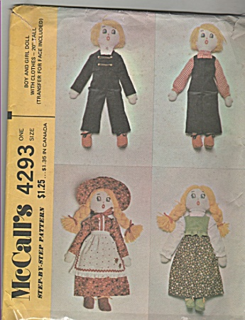 Mccall's - Sz.one Size - Boy & Girl Doll - 4293