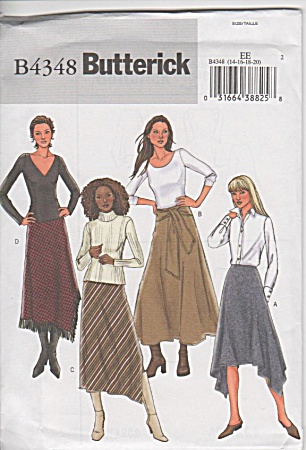Butterick - 4348 - Misses Skirt - Sz 14-20 - Uncut