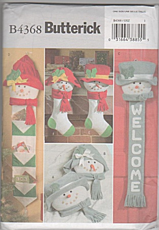 Snowfolks - Decorations Patterns - Butterick 4368
