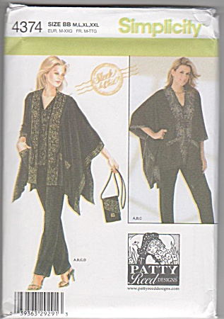 Simplicity - 4374 - Patty Reed - For Sizes - M-xxl