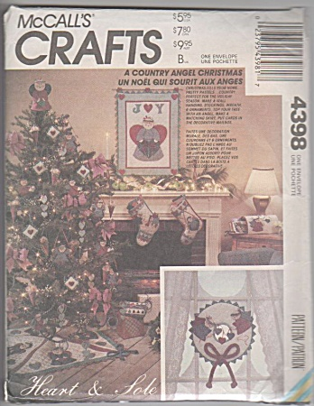 Christmas Decorations - Country Angel - Oop Patte