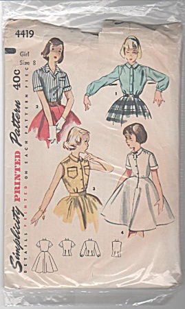 1953 vintage pattern BLOUSE & BLOUSE-SLIP Siz (Image1)