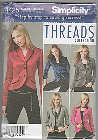 Threads - Simplicity 4425 - Jackets - Lengths - 16-22