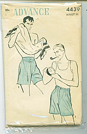 VINTAGE ADVANCE MENS BOXER SHORTS 4439P (Image1)