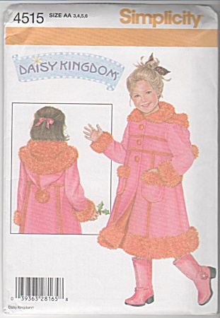 Daisy Kingdom - Fleece Coat - Girls Sz 3-6