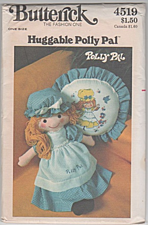 Vintage - Butterick - 26 Inch Polly Doll - Pillow