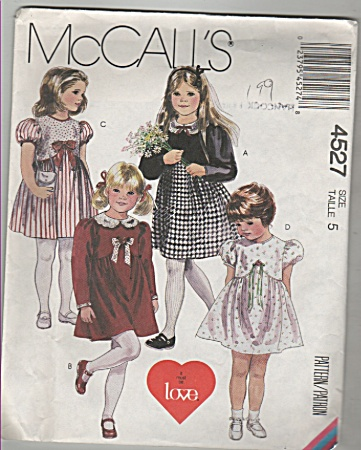 McCall's ~ SZ-5~childrens dresses~4527 (Image1)