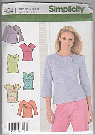 Classic Knit Top - 14-16-18-20 - Simplicity 4541