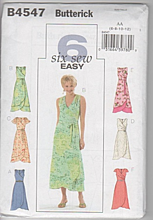6 - Easy-to-sew - Dresses - Sz 6-12 - Uncut - Oop