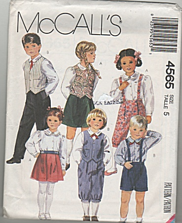 Mccall's - Sz 5 - Boys & Girls Outfits - 4565 - Oop