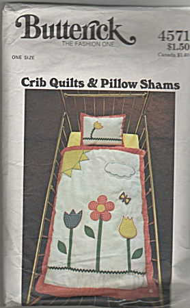 Vintage~Butterick~4571~Crib QuiltPillow ShaM (Image1)