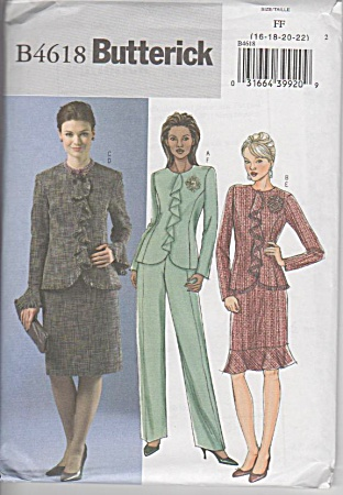 Butterick 4618 - Classic - Jacket - Skirt - Pants - Oop