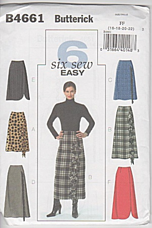 BUTTERICK~4661 Ladies SkirtS~6 styles~16-22 (Image1)