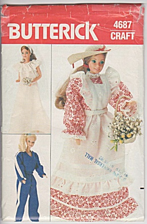 Vintage Butterick Doll Pattern - 4687 - Barbie