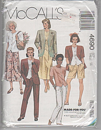 Mccalls 4690 - Seperates Pattern - Sz. 14 - Oop