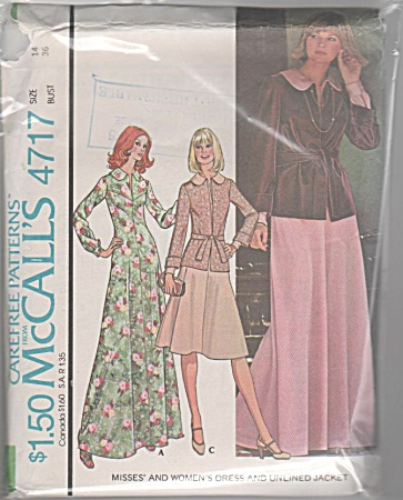 McCALL'S~DRESS~UNLINED JACKET~VINTAGE~OOP (Image1)