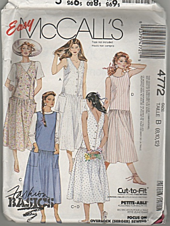 Mccall's - Sz8-12 - Petite-able - 4772 - Oop - Jumper
