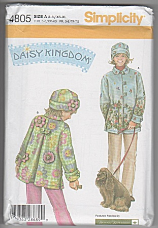 Daisy Kingdom - Fleece Coat & Hat - Pattern 4805 -