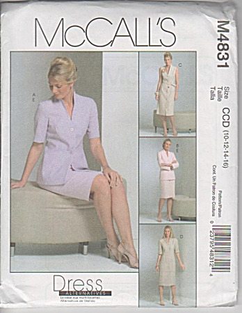 Mccall - Dress Alternatives - 4831 - Sz 10-16