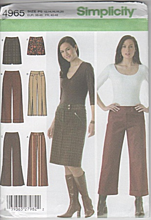 Simplicity 4965 - Skirt - Pants - Two Lengths