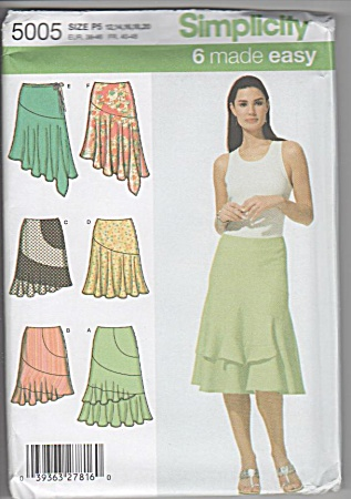 Fancy - Asymmetric - Flouncy - Contrast Skirt