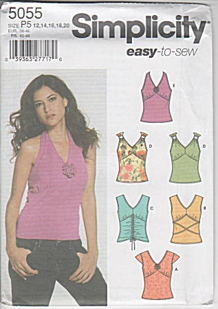 Misses Easy 6 Knit Tops - Pattern - Sz 12-20 - 5055