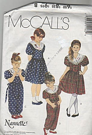 Pattern By Nanette - 4-5-6 - Mccall's - 5116