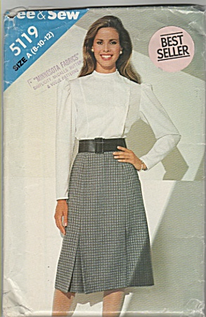 SEE & SEW ~SZ: A(8-10-12) ~BLOUSE~SKIRT~5119 (Image1)