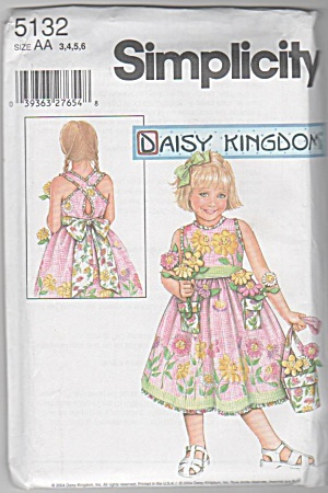 Daisy Kingdom~ Summer Open Back Dress~SZ 3-6 (Image1)