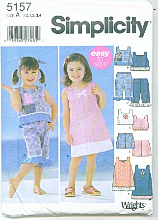 SIMPLICITY 5157 EASY TO SEW DRESS ~PLAYCLOTHE (Image1)