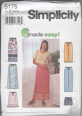 Simplicity 5175 - Classic Sports Outfits - Sz6-24