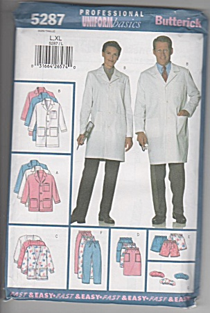 HOSPITAL COATS~PANTS~HAT~POUCH~5287~SZ L-XL (Image1)