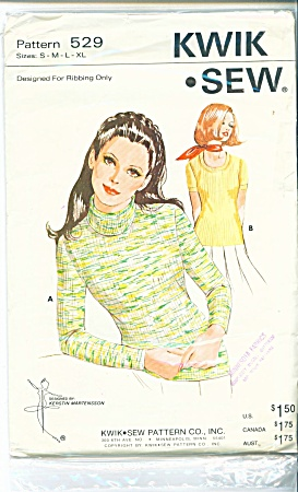 KWIK-SEW~LADIES  TOP PATTERN 529~ALL SZS (Image1)