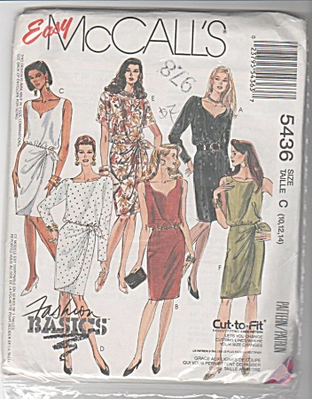 McCALL'S #5436 SEWING PATTERN 3-sizes UNCUT (Image1)