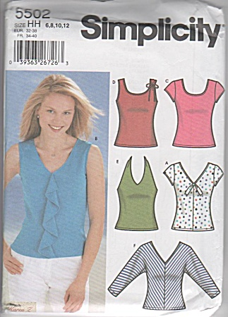 Knit Tops - Six Styles - Pattern 5502 - Sz 6-12