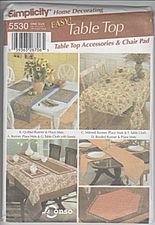 PATTERN 5530~TABLE TOP ACCESSORIES~CHAIR PADS (Image1)