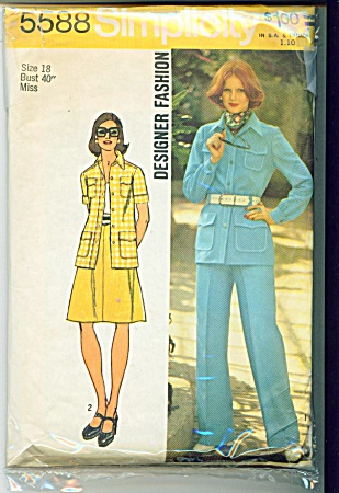 Simplicity 5588 Misses Jacket Skirt Pants 197