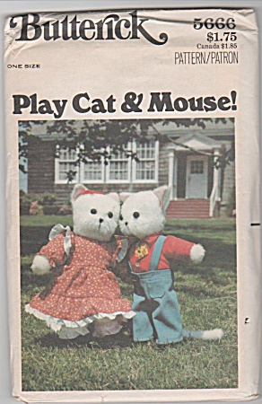 Vintage - Play Cat Mouse Patterns - 15 In Toy